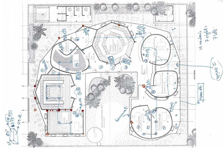 Plan layout of the complex © SAAD BEN MOSTAFA & Team
