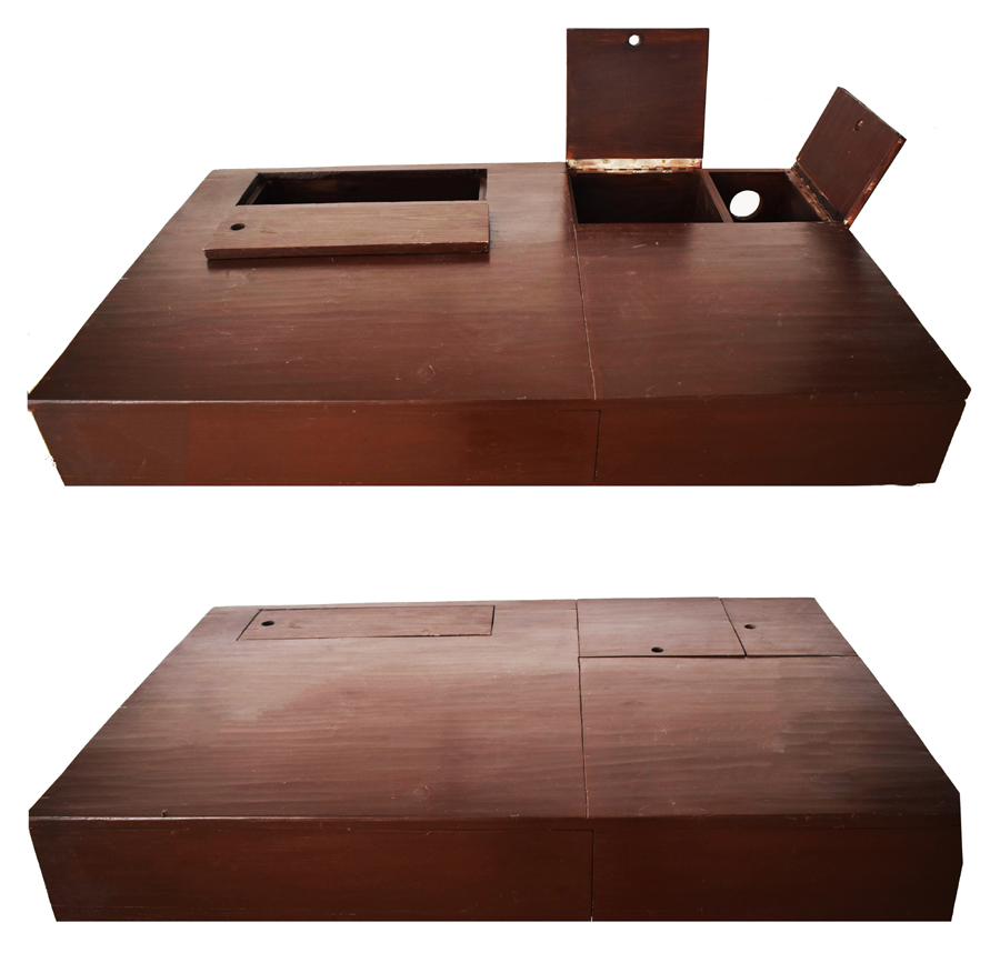 Golden rectangle table - Operable top © Dept. of Architecture, CUET