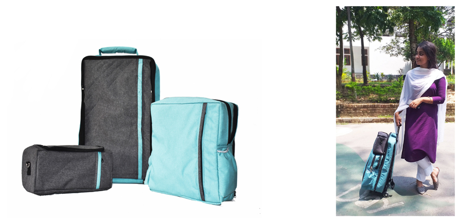 Travel Backpack - Detached © Dept. of Architecture, CUET