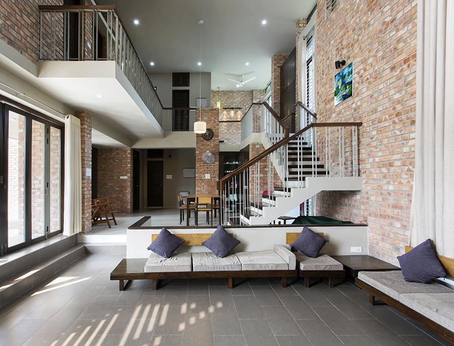 Interior showing interaction between private-common zones © Abdul Kader Zeeshan & Ridwan
