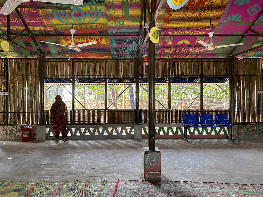 Community centre in Rohingya Refugee Camp in Bangladesh