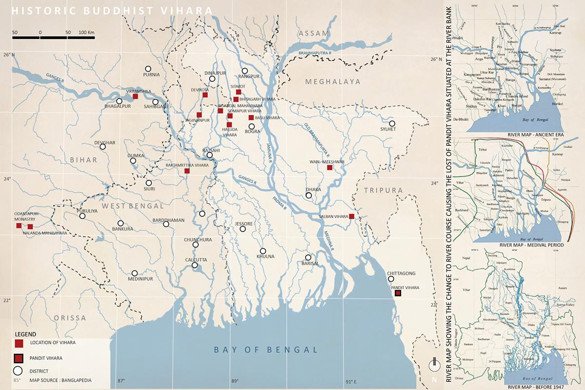 River map location of Vihara © Atiya Nusrat | BUET
