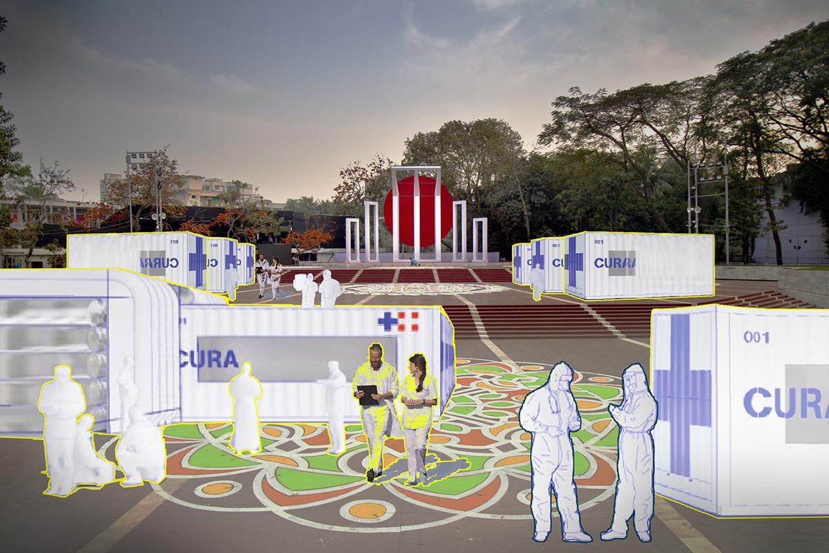 ক্ষেত্রভেদে শিপিং কনটেইনার এর ব্যবহার (adapted CURA model in local context) | collage by Amlan Kumar Dey