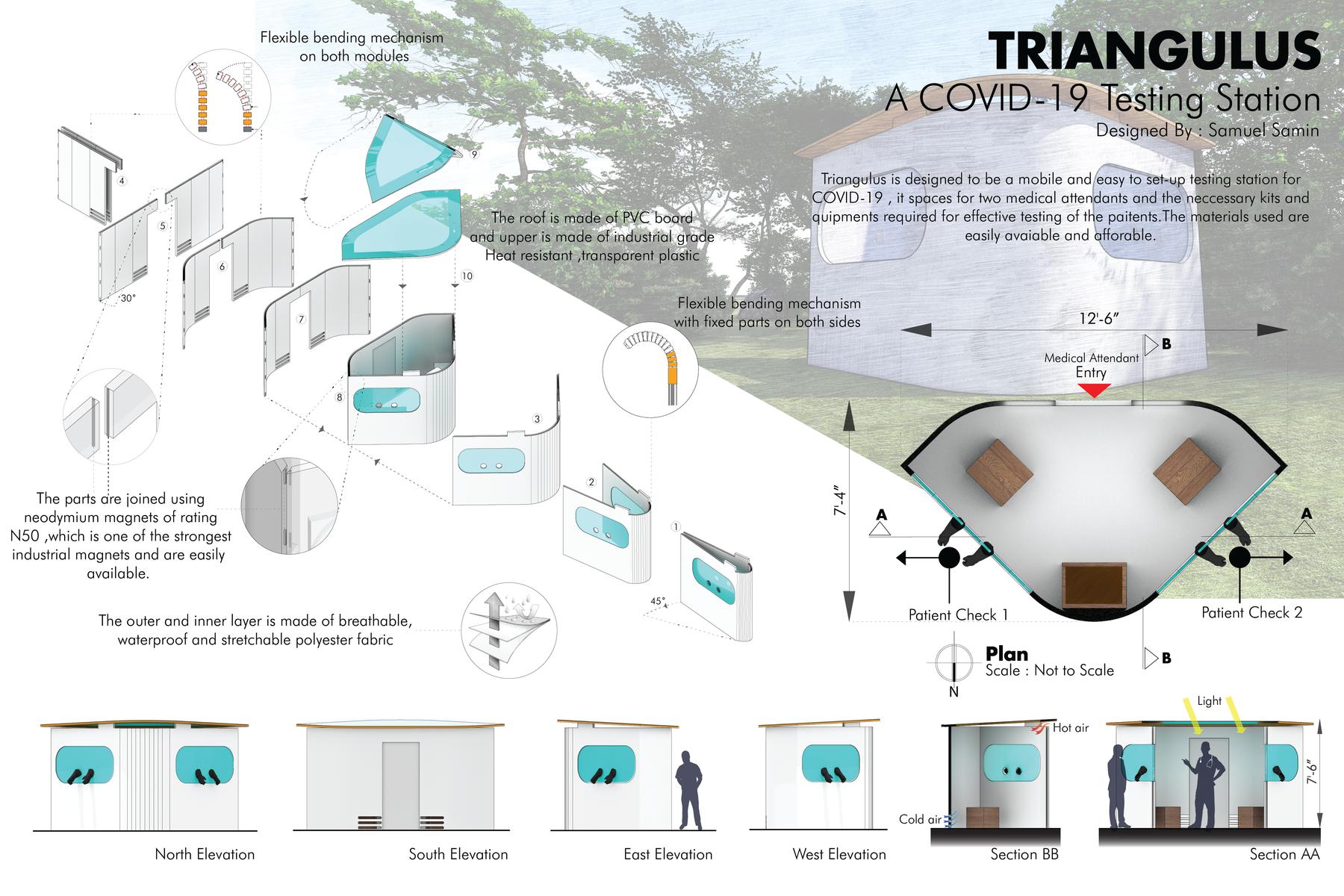 Take Measure, Design, Covid-19 Mobile Testing Station