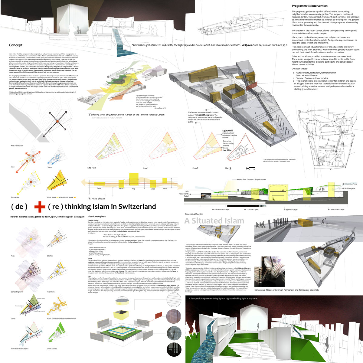 Building in conflict: (De) +(Re) Thinking Islam in Switzerland | Honor Award | 2011 Unbuilt, the Washington chapter, The American Institute of Architects