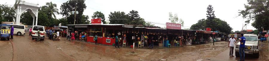 Panorama of existing main entry and souvenir shops © Sabbir H Sujan