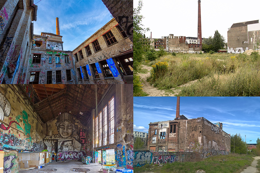 Existing conditions of two industrial heritage buildings (Source: author)
