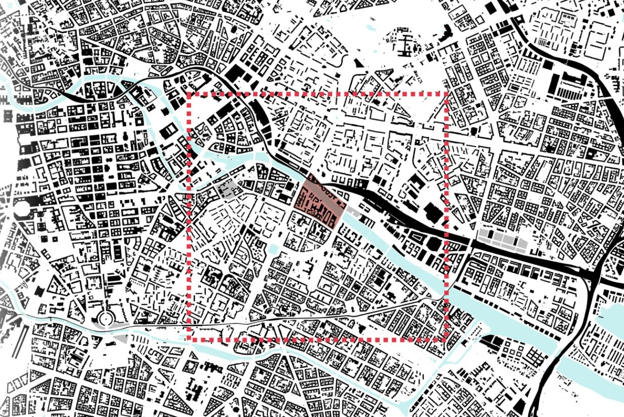 Figure 1: Location of the design intervention site in overall context of Berlin