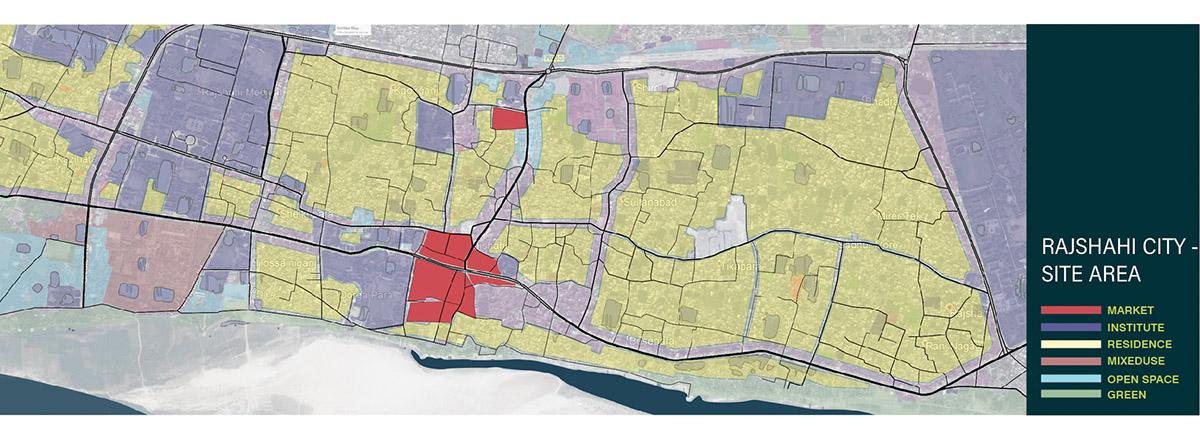 Land use map of Rajshahi city © Swarajit Sarker