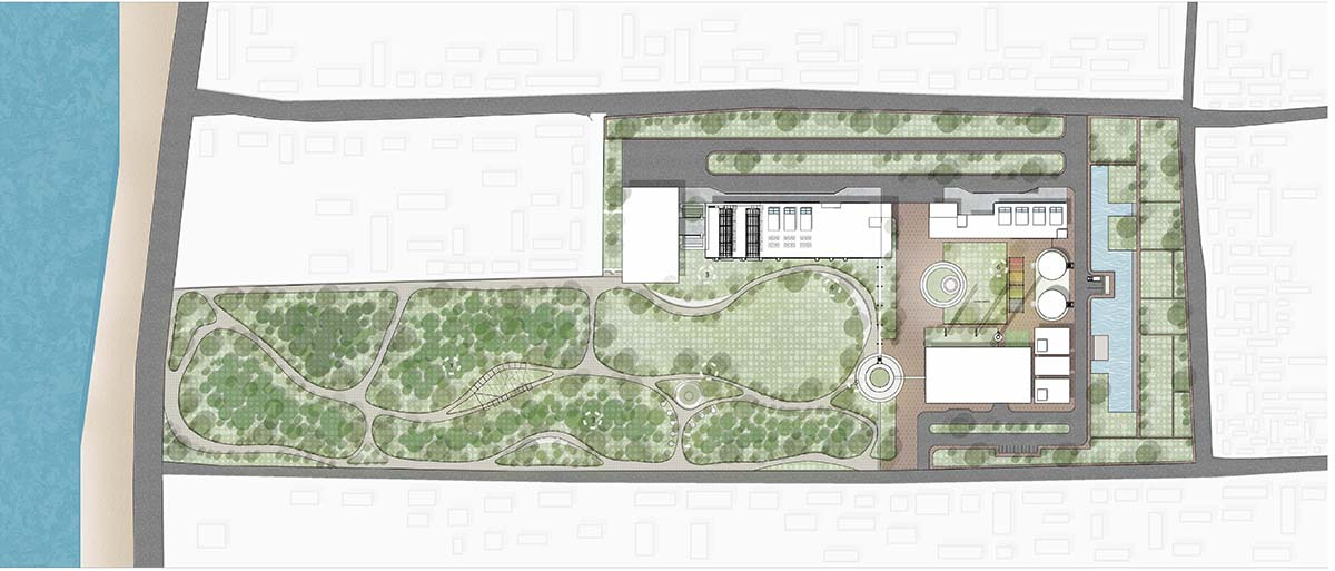 Site plan : Projection year 2042