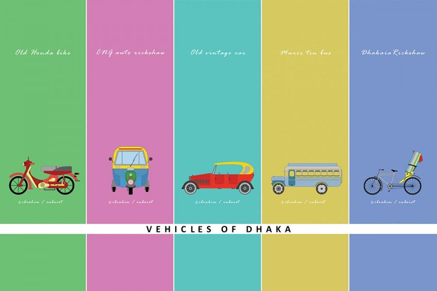 Vintage vehicles of Dhaka © Md. Ibrahim Badhan and Rubaiet Sharmeen Sornali