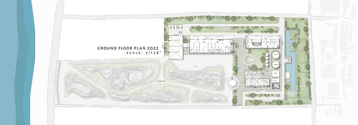 Site Plan; Projection year 2022