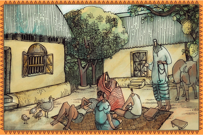 বসতবাড়ি   চিঠি ১৫   মাটির শৈল্পিক বাড়ি